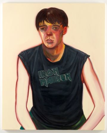 "Nicole Eisenman, ""Portrait of Celeste"", 2007, Oil on canvas, 48"" x 39"""