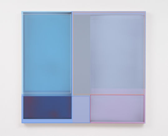 "Lavender, 2014, Acrylic on canvas, 41"" H x 37"" W (104.14 cm H x 93.98 cm W), Photo credit: Robert Wedemeyer"