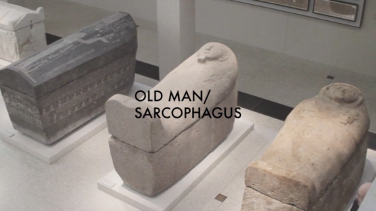 Old Man/Sarcophagus, 2013, Single-channel video with sound, 3:54 min trt, Edition 1 of 5 + 1 AP