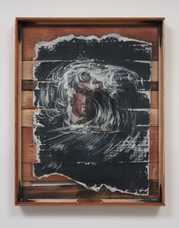 "The Slave Ship Zong Massacre 1781 Malady Mythology IV, 2013, Mixed media collage on paper, 29.125"" H x 23.125"" W (73.98 cm H x 58.74 cm W), Photo credit: Robert Wedemeyer"
