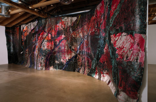 "Representation of a Landscape as a Wall, 2012, Acrylic, latex and ink on paper, 14' x 48.6' or 168"" H x 583.2"" W"