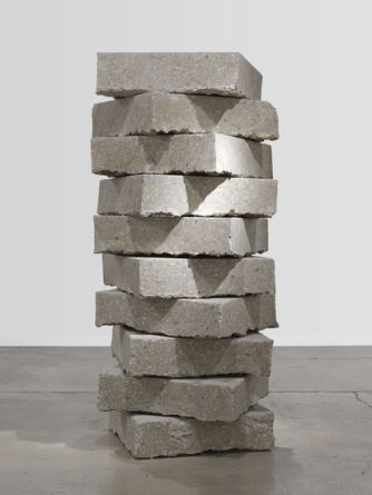 "A bit of detritus, 2011, Concrete, metal and dirt, 80"" x 32"" x 32"""