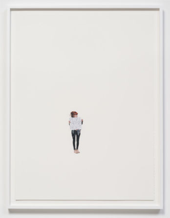 "People Before Profits (May Day March, Los Angeles, 2012), 2012, Colored pencil on paper, 30"" H x 22"" W paper size; 32 3/4"" H x 25"" W framed, Photo Credit: Robert Wedemeyer"