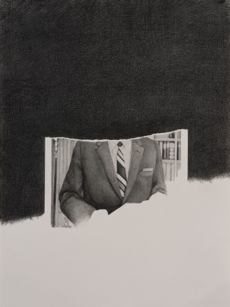 J. Edgar Hoover #3, 2012, Pencil on paper, 30