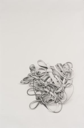 "Rubber Bands #9, 2011, Pencil on paper, 68"" H x 45"" W (172.72 cm H x 114.3 cm W)"