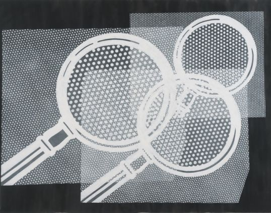 "Lichtenstein #2, 2010, Pencil on paper, 96"" H x 72"" W (243.84 cm H x 182.88 cm W)"