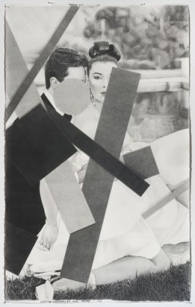 "Wedding Geometry #2, 2012, Pencil on paper, 72"" H x 45"" W (182.88 cm H x 114.3 cm W)"