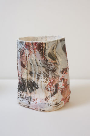 Ghosts III, 2012, High fire glaze and glass on ceramic
