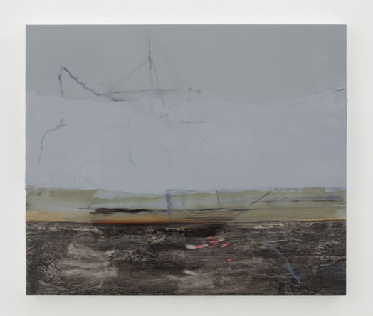 Untitled (Lightning and Fog), 2011, Ink and oil on panel, 22