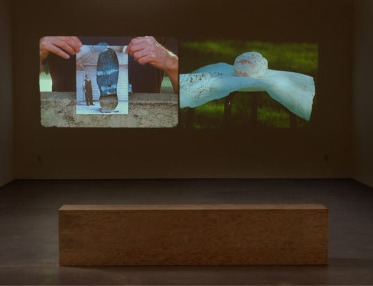 striations (stones and clouds), 2010-11, Two 16mm films with ink transferred to video, color, no sound