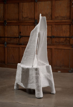 "shadow of a shadow (reflections), 2010, plaster and cardboard, 45"" x 26"" x 19"""
