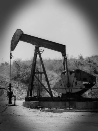 "Pumping Oil, 2010, Lightjet print on aluminum, 60"" x 45"""