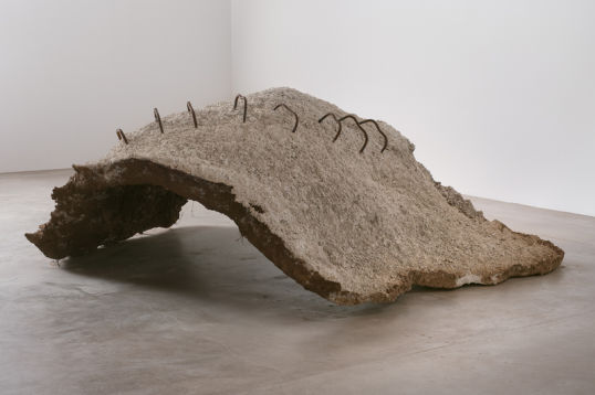 Grounded, 2010, Concrete, rebar and dirt, 7' x 9' x 3'