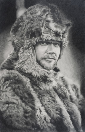 Shackleton #18, 2009, pencil on paper, 41