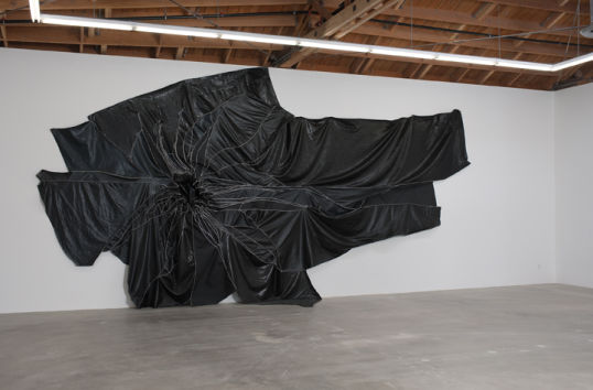 "Untitled, 2010, Vinyl and thread, 14' H x 27' 6"" W"