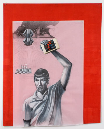 The Fall of Man, 2009, 178,5 x 147,5 cm, Graphite, oil, acrylic, collage on mylar on acrylic on paper, Photocredit Lutz Bertram, Berlin