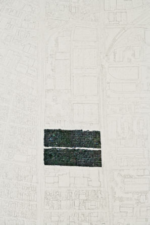 "Memorial to One of the Largest Urban Farms in America (South Central Community Garden, at 41st and Alameda Streets, Los Angeles, 1994-2006), 2008, Graphite and colored pencil on paper, paper size 94.5"" x 60"" (detail)"