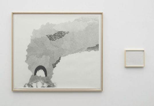 Explosion # 24, 2008, Graphite on Paper, Diptych, 55