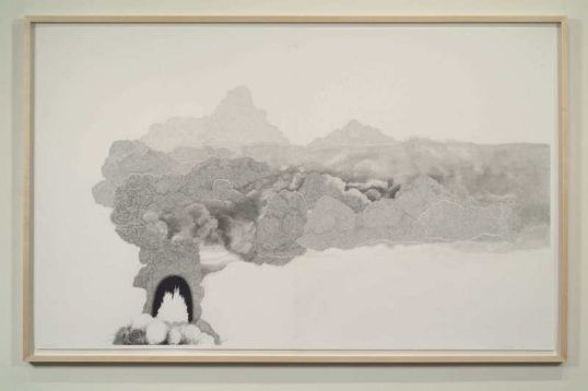 Explosion # 16, 2006, Pencil on paper, Diptych, 40