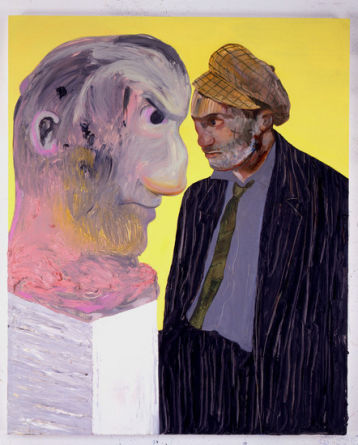 "Untitled (Portrait of a Man Wolfie), 2007, Oil on board, 48"" x 39"" (121.9 x 99.1 cm)"