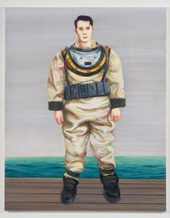 "Deep Sea Diver, 2007, Oil on canvas, 82"" x 65"" (208.28 x 165.1 cm)"