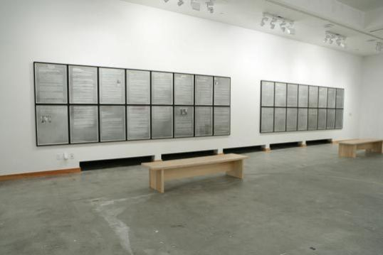 "Eulogies To One and Another, Installation View, in ""Nothing Is Neutral"", RedCat Gallery, Los Angeles 2006"
