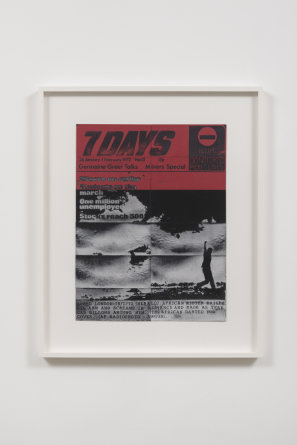 "7 Days, 26 January-1 February, 1972, 2014, Compressed Lint, 41"" H x 34"" W x 2"" D"