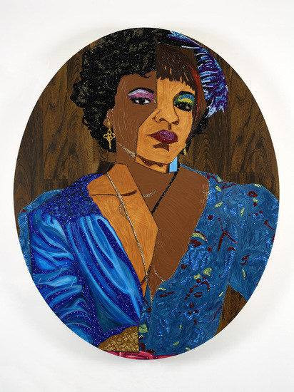 "Mickalene Thomas, ""Portrait of Temika"", 2014"