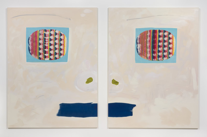 Manufactured Paintings, 2015, Installation view, SVLAP Solo Show, February 21 - April 4, 2015; Photo credit: Robert Wedemeyer