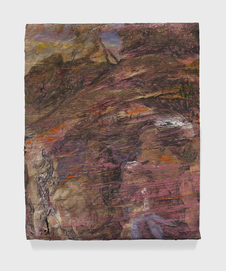 "Carve, 2014, Oil paint and oil paint skins collaged on canvas, 26.50"" H x 20.50"" W x 2"" D (67.31 cm H x 52.07 cm W x 5.08 cm D), Photo credit: Martin Parsekian"