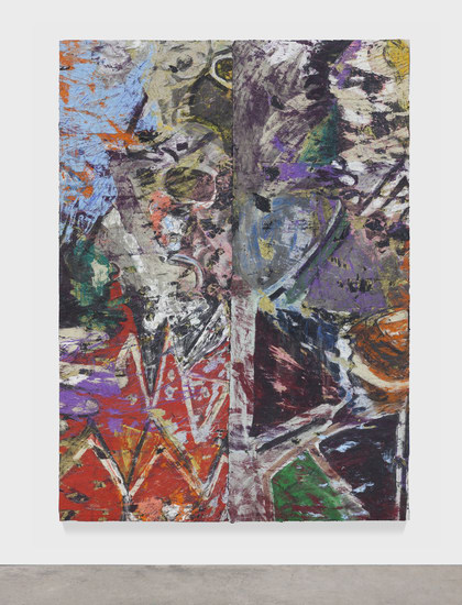 "Torero, 2014, Oil paint and oil paint skins collaged on canvas, 84.50"" H x 60.50"" W x 3"" D (214.63 cm H x 153.67 cm W x 7.62 cm D), Photo credit: Martin Parsekian"