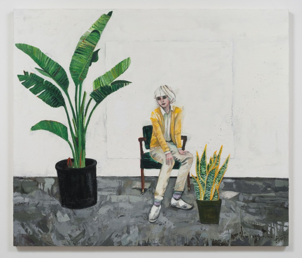 "Dasha (Plants), 2014, Oil on canvas, 62.25"" H x 72"" W (158.12 cm H x 182.88 cm W), SVLAP solo exhibition, May 31 - July 5, 2014; Photo credit: Robert Wedemeyer"
