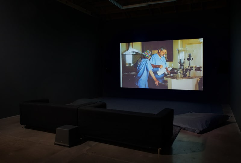 Don't Go Back To Sleep, 2014, HD video with stereo sound, TRT 74 minutes, Installation view, SVLAP solo exhibition, April 19 - May 24, 2014