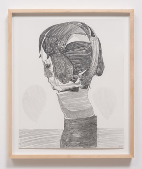 "Untitled (M.S.) #4, 2013, Graphite on paper, 17"" H x 14"" W (43.18 cm H x 35.56 cm W), Image courtesy of Susanne Vielmetter Los Angeles Projects"