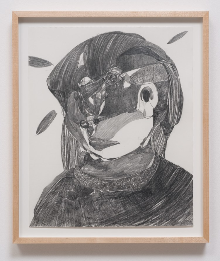"Untitled (M.S) #3, 2013, Graphite on paper, 17"" H x 14"" W (43.18 cm H x 35.56 cm W), Image courtesy of Susanne Vielmetter Los Angeles Projects"