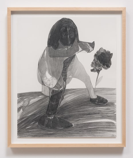 "Untitled (M.S) #1, 2013, Graphite on paper, 17"" H x 14"" W (43.18 cm H x 35.56 cm W), Image courtesy of Susanne Vielmetter Los Angeles Projects"