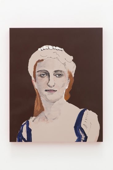Mme. Roederer (painted), 2013, Ink and oil on panel, 22, Photo credit: Evan Bedford