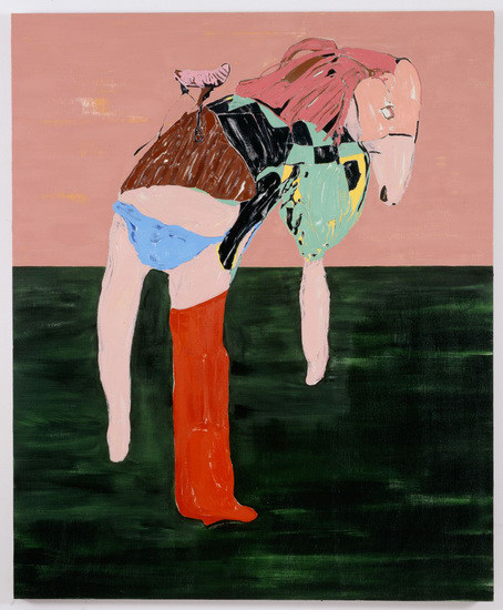 "Blue Knickers, 2008, Oil on linen, 72"" H x59"", Image courtesy of Susanne Vielmetter Los Angeles Projects and Sadie Coles HQ"