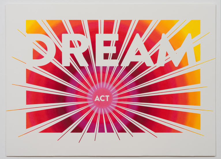 "Pass The Dream Act (Dream Act), 2012, Colored pencil on archival board, 26"" x 36"", Photo Credit: Robert Wedemeyer"