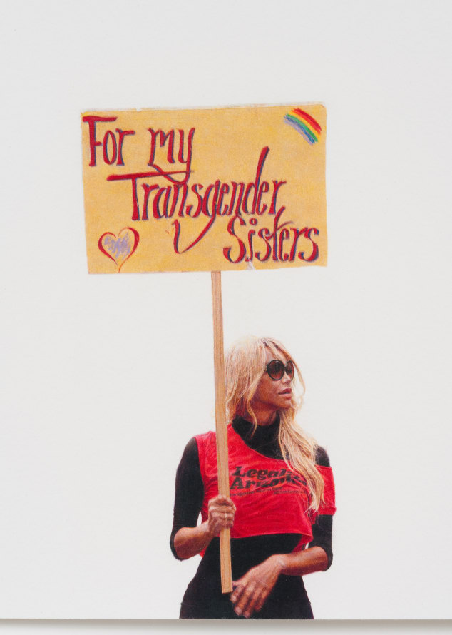 "For My Transgender Sisters (May Day March, Los Angeles, 2012), 2012, Colored pencil on paper, 30"" H x 22"" W paper size; 32 3/4"" H x 25"" W framed, Photo Credit: Robert Wedemeyer"