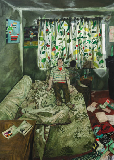 "Self Portrait (Benner Street), 2011, Oil on canvas, 98"" x 70"""