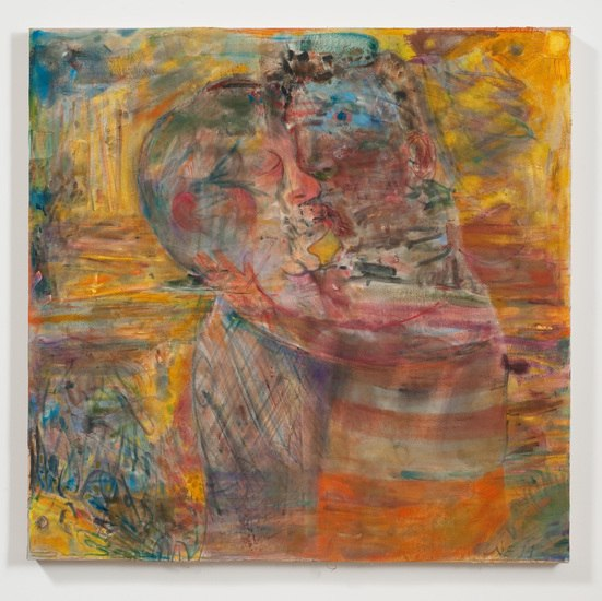 "Yellow Beach Kiss, 2011, 39"" x 39"""