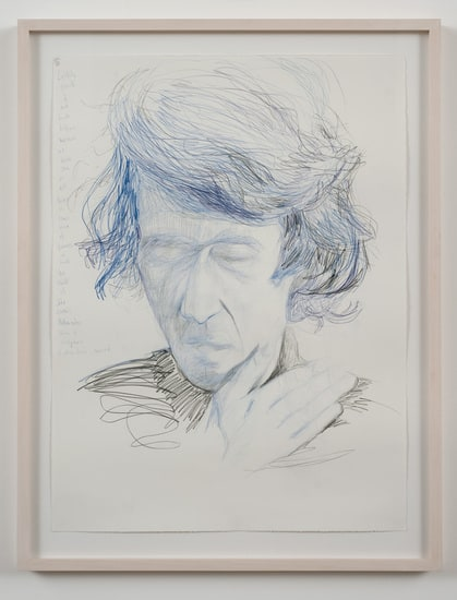 "Smell defines..., 2009, Colored pencil on paper, framed, 34 1/2"" x 26 1/2"""