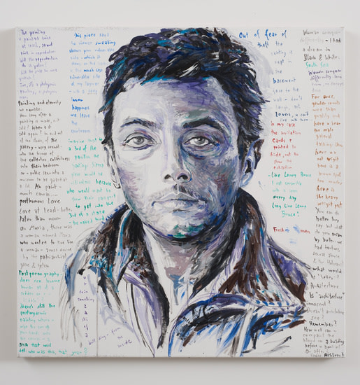 "Lenny Bruce, 2009, Acrylic on canvas, 39 1/2"" x 39 1/2"""