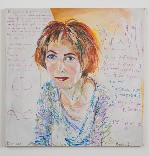"Chris Kraus, 2004, Acrylic on canvas, 39 1/2"" x 39 1/2"""