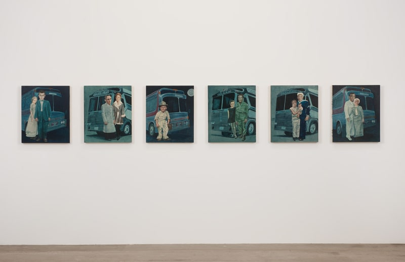 "Protagonist No.30-35, 2010, Acrylic on wood panel, 19 3/4""H x 23 3/4""W each"