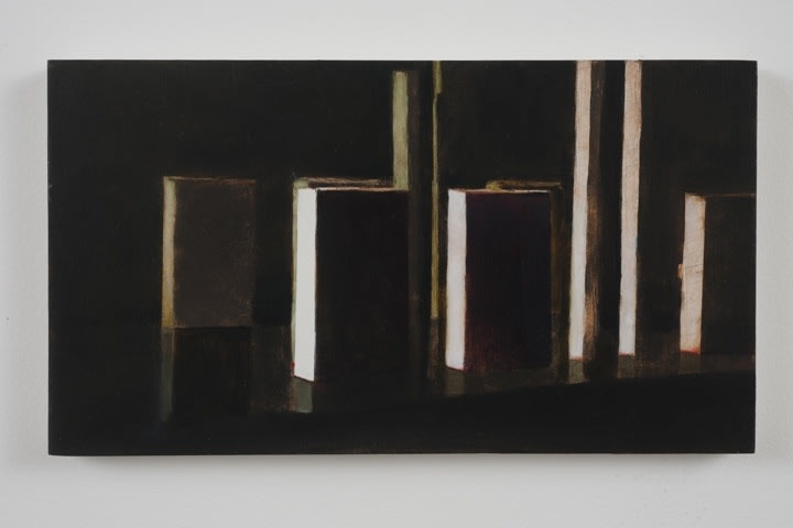 "no title, 2010, Oil on panel, 6 1/4"" H x 11 3/8"" W"