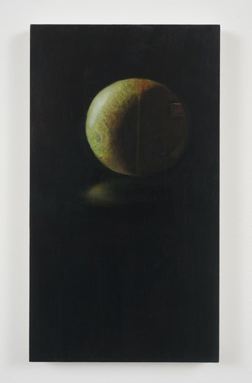 "no title, 2010, Oil on panel, 11 1/3"" x 6 1/3"""