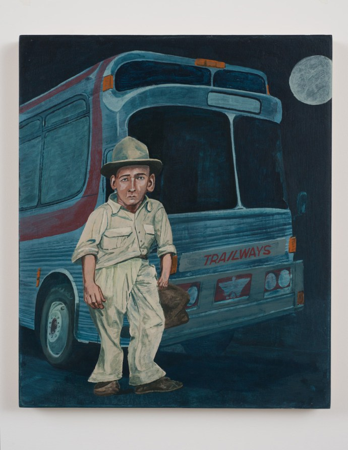 "Protagonist No.31, 2010, Acrylic on wood panel, 19 3/4""H x 23 3/4""W"