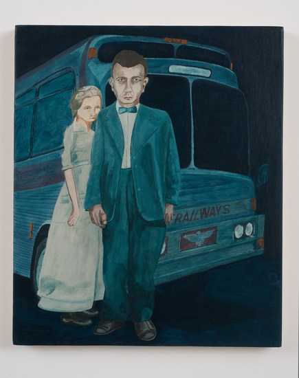 "Protagonist No.30, 2010, Acrylic on wood panel, 19 3/4""H x 23 3/4""W"